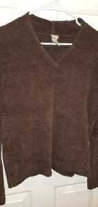 J Jill chocolate vneck sweater M